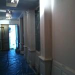 Couloir en travaux