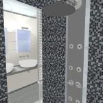 3D Salle de bain - douche