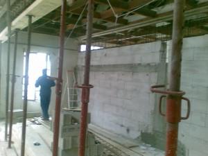 création de la dalle de l'étage