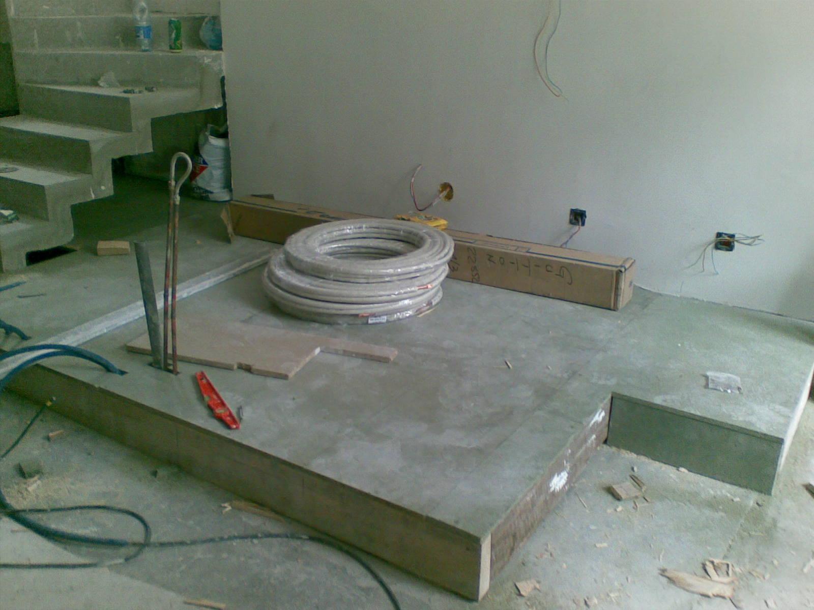 Cr ation d 39 un estrade cuisine - Estrade salle de bain ...
